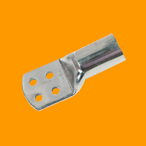 Copper Tubular Cable Terminal Ends Heavy Duty 4 Hole Type