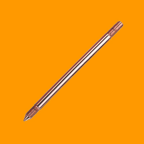 Copper Bonded Earth Rod and FittingsSolid Copper Earth ROD ( Externally Threaded)